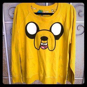 Adventure Time Reversible Long Sleeve Scoop Neck